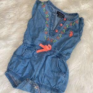 U.S Polo Assn Babygirl Romper